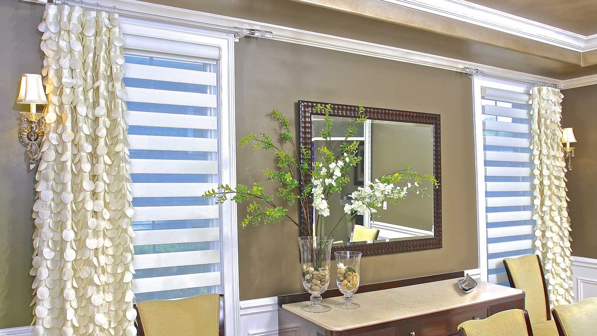 Custom window treatments for Unique window designs