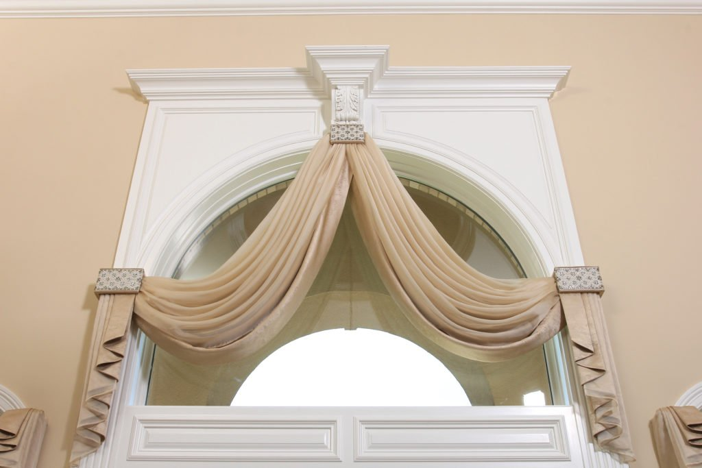 Arched window draperies