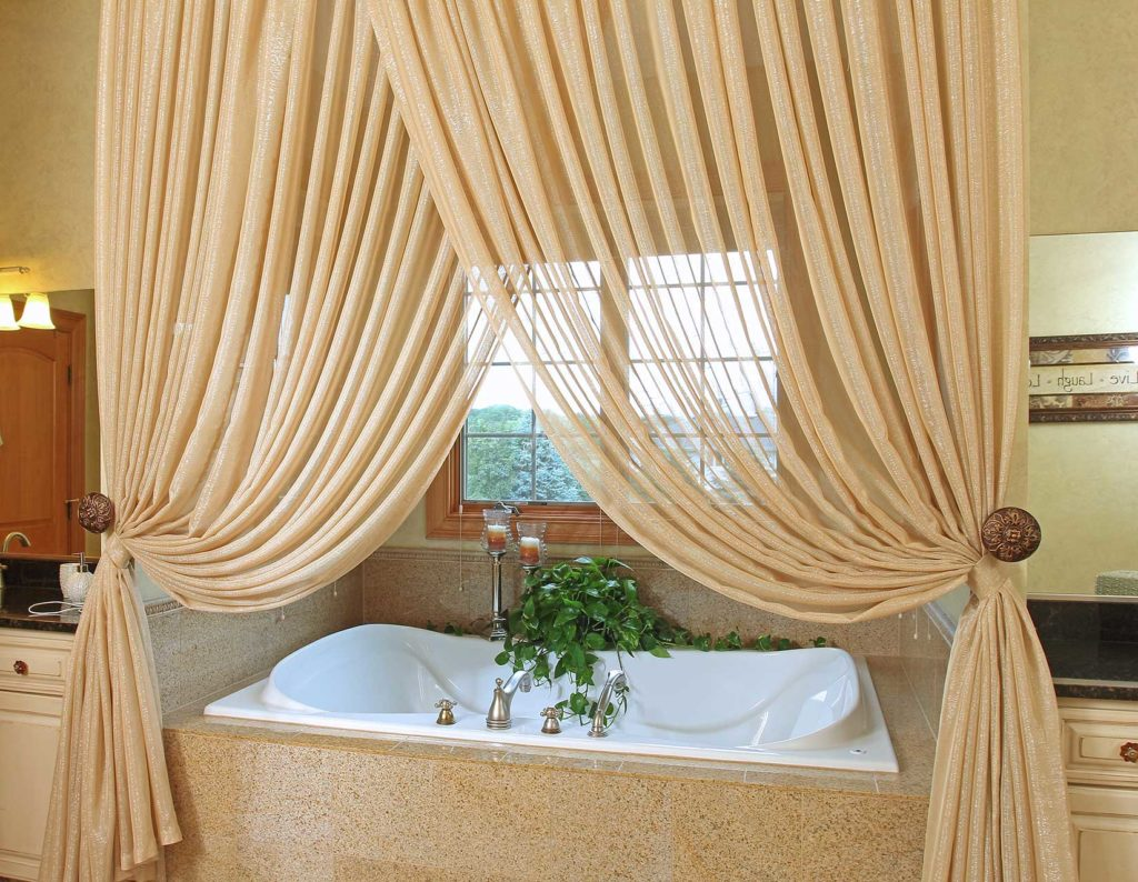 draperies for a master bath