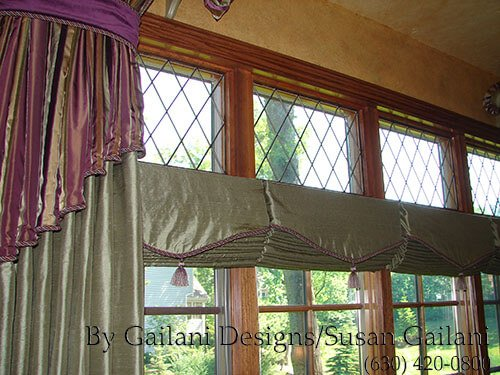 "Hobbled (also called ""Waterfall"") Roman Shades"